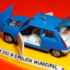 Coches a escala: RENAULT 5 R-5 POLICÍA MUNICIPAL REF 293, METAL 1/43, PILEN MADE IN SPAIN, ORIGINAL AÑOS 70. CON CAJA. Lote 189384861
