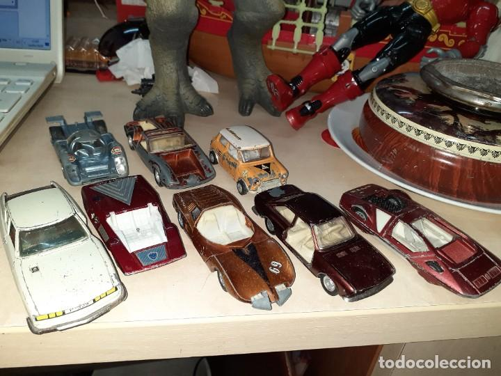 Coches a escala: Auto Pilen.Lote de 8 miniaturas años 70 para piezas o restaurar.Desguace.Citroen,Seat,Mini,..... - Foto 2 - 204139586