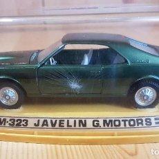 Coches a escala: AUTO PILEN M-323 G. MOTORS JAVELIN, 1/43, ESPAÑA AÑOS 70, EN CAJA EXPOSITOR. Lote 206308616