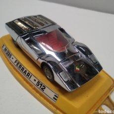 Auto in scala: COCHE FERRARI 512 DE PILEN CROMADO M 326 -1/43. Lote 221547131