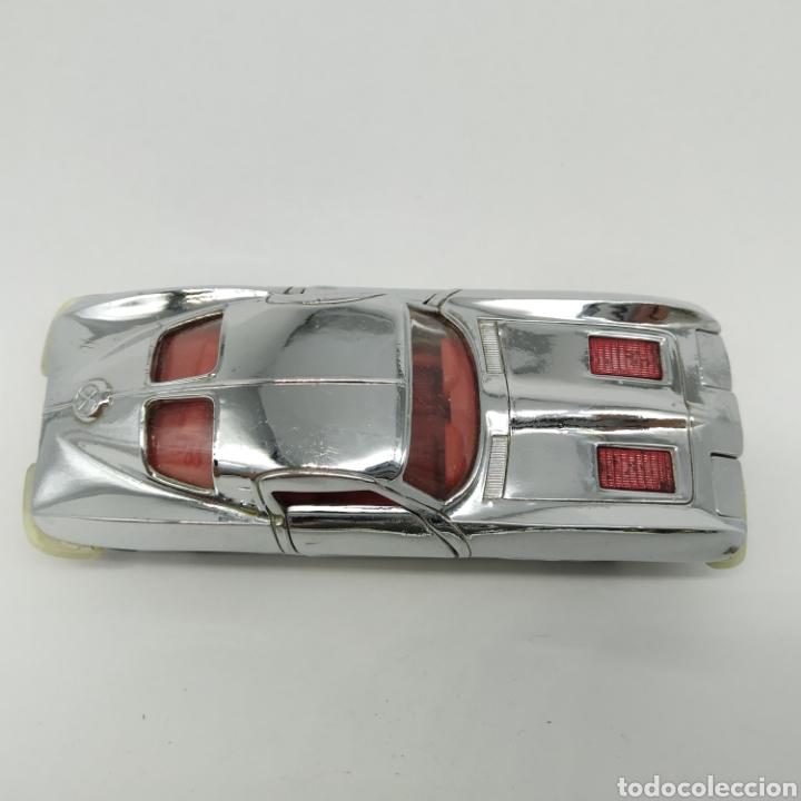 Coches a escala: Chevrolet Corvette Sting Ray escala 1/43 de Auto Pilen versión cromada - Foto 3 - 226095516