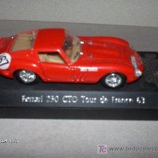 Coches a escala: SOLIDO ---- FERRARI 250 GTO TOUR DE FRANCE 63. Lote 17604926