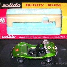 Coches a escala: BUGGY BERTONE 189, FABRICADO EN METAL, ESC. 1/43 POR LA CASA SOLIDO, AÑO 1971. A ESTRENAR CON CAJA.. Lote 25101441