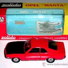 Coches a escala: OPEL MANTA REF. 188, METAL, ESC. 1/43, SOLIDO AÑO 1971. CON SU CAJA.. Lote 17992326