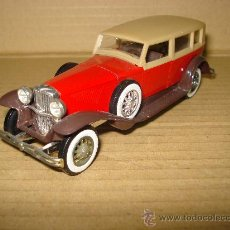 Coches a escala: DUESENBERG J.. SERIE AGE D'OR DE SOLIDO 1975 EN 1/43 MADE IN FRANCE.. Lote 19743395