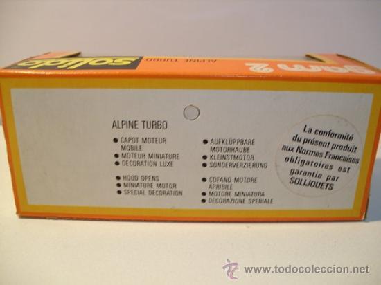 Coches a escala: SOLIDO Nº57 -ALPINE TURBO - Foto 11 - 30424551