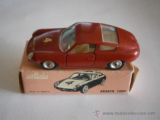 FIAT ABARTH 1000, 1/43, ORIGINAL DE 1962 DE SOLIDO, REF. 124, 9/62. VERY GOOD CONDITION IN BOX. (Juguetes - Coches a Escala 1:43 Solido)