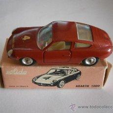 Coches a escala: FIAT ABARTH 1000, 1/43, ORIGINAL DE 1962 DE SOLIDO, REF. 124, 9/62. VERY GOOD CONDITION IN BOX.. Lote 39052332