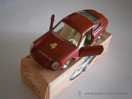 Coches a escala: FIAT ABARTH 1000, 1/43, ORIGINAL DE 1962 DE SOLIDO, REF. 124, 9/62. VERY GOOD CONDITION IN BOX. - Foto 2 - 39052332