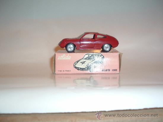 Coches a escala: FIAT ABARTH 1000, 1/43, ORIGINAL DE 1962 DE SOLIDO, REF. 124, 9/62. VERY GOOD CONDITION IN BOX. - Foto 3 - 39052332
