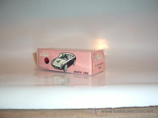 Coches a escala: FIAT ABARTH 1000, 1/43, ORIGINAL DE 1962 DE SOLIDO, REF. 124, 9/62. VERY GOOD CONDITION IN BOX. - Foto 9 - 39052332