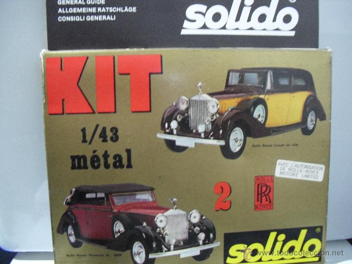 Coches a escala: Kit Solido Metal, 2 Rolls-Royce para montar,Coupe de Ville,Phantom III,1939,Escala 1:43 - Foto 4 - 45657002