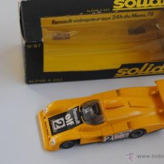 Coches a escala: COCHE RENAULT ALPINE A 442 SOLIDO Nº 87 MADE IN FRANCE. Lote 47632952