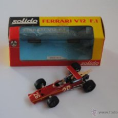 Coches a escala: COCHE FERRARI V12 F1 SOLIDO MADE IN FRANCE . Lote 47633555