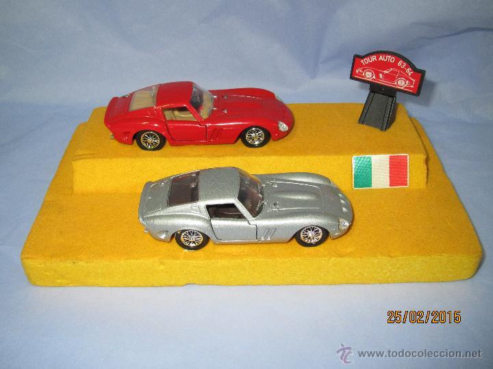 PEANA CON PAREJA DE FERRARI 250 GTO TOUR AUTO 1963-64 EN ESCALA 1/43 - AÑO 1980S. (Juguetes - Coches a Escala 1:43 Solido)
