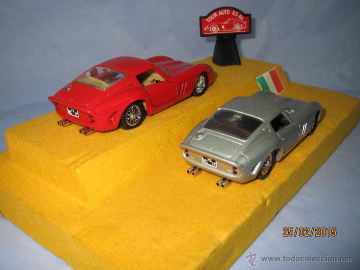 Coches a escala: Peana con Pareja de FERRARI 250 GTO Tour Auto 1963-64 en Escala 1/43 - Año 1980s. - Foto 5 - 47945657