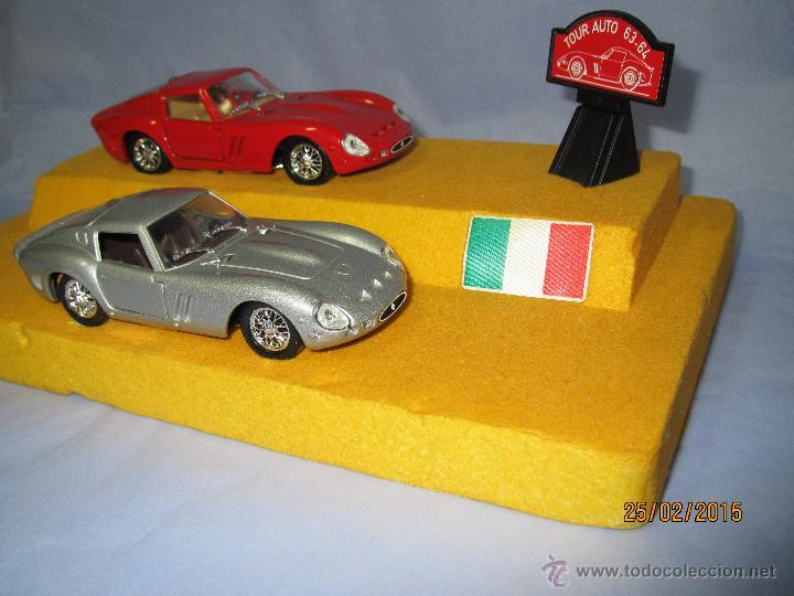 Coches a escala: Peana con Pareja de FERRARI 250 GTO Tour Auto 1963-64 en Escala 1/43 - Año 1980s. - Foto 6 - 47945657