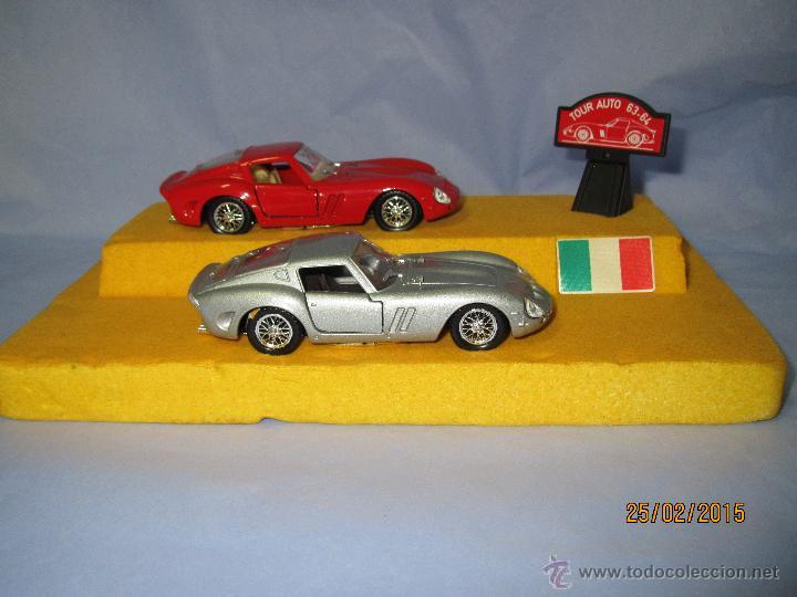 Coches a escala: Peana con Pareja de FERRARI 250 GTO Tour Auto 1963-64 en Escala 1/43 - Año 1980s. - Foto 9 - 47945657