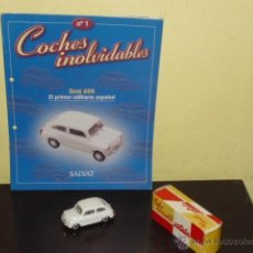 Coches a escala: SEAT 600 - COCHES INOLVIDABLES SALVAT - Nº 1 -. Lote 119901012