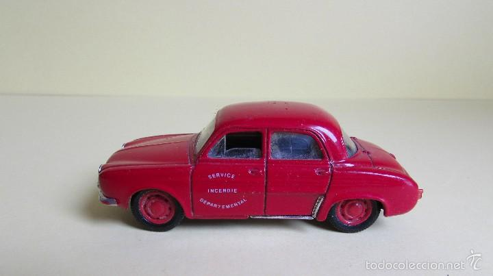 SOLIDO DAUPHINE - RENAULT - SERVICE INCENDIE - 1/43 (Juguetes - Coches a Escala 1:43 Solido)