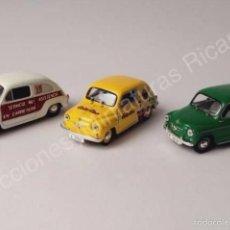Carros em escala: LOTE SEAT 600 Y 800 (3 PIEZAS) - COLA CAO, ASISTENCIA EN CARRETERA - COCHE CLÁSICO 1:43 - SOLIDO. Lote 216374103
