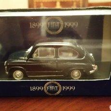 Coches a escala: FIAT 600. EDICIÓN LIMITADA, ANIVERSARIO (1899 - 1999). MARCA BRUMM. 1:43. CAJA ORIGINAL. SIN USAR.. Lote 66747305