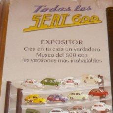 Coches a escala: EXPOSITOR COLECCION TODOS LOS SEAT 600 DE SALVAT.. Lote 83512024