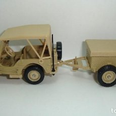 Coches a escala: JEEP WILLYS MILITAR CON REMOLQUE SOLIDO ESCALA 1:43. Lote 118893319