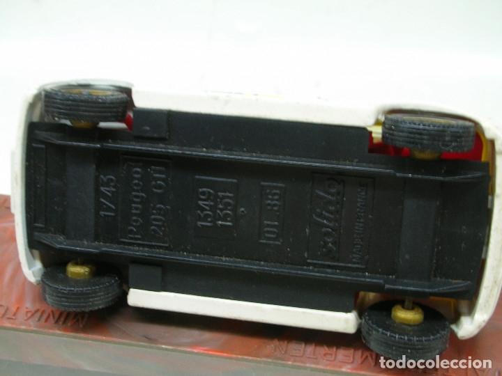 Coches a escala: SOLIDO 1/43 PEUGEOT 205 GTI RALLYE MONTE CARLO METAL MADE IN FRANCE - Foto 9 - 139100844