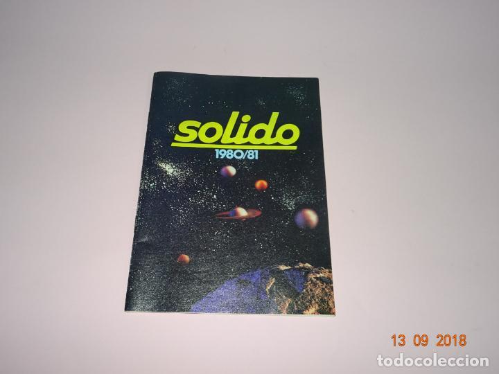 ANTIGUO CATÁLOGO ORIGINAL DE VEHÍCULOS MINIATURA DE SOLIDO AÑO 1980-81 (Juguetes - Coches a Escala 1:43 Solido)
