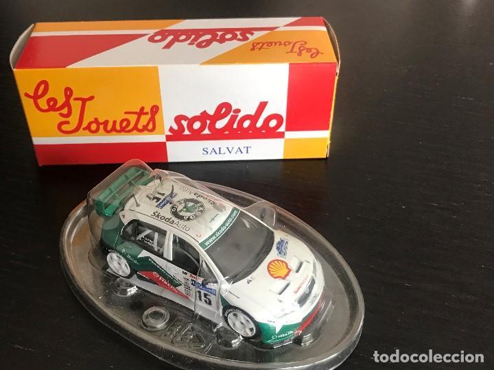 SKODA FABIA WRC RALLY ESCALA 1/43 - MARCA SOLIDO - DE SALVAT - NO ALTAYA PILEN JOAL NACORAL GUISVAL (Juguetes - Coches a Escala 1:43 Solido)