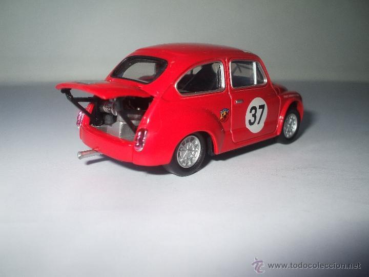 Coches a escala: FIAT ABARTH JUNCOSA DE 1967, SOLIDO 1/43, COLECCION SEAT 600, MUY BUEN ESTADO - FLA - Foto 2 - 173629322