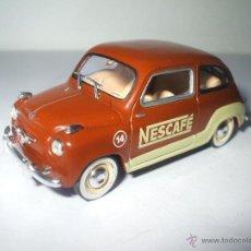 Coches a escala: SEAT 600 PUBLICIDAD NESCAFE DE 1959 DE SOLIDO, COLECCION SEAT 600, MUY BUEN ESTADO - FLA. Lote 173631267