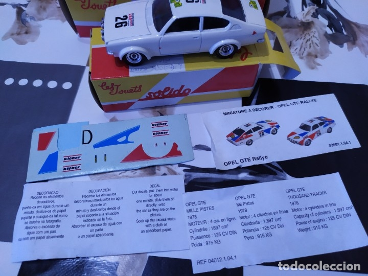 Coches a escala: Coche Escala 1:43 Salvat con caja marca sólido Opel kadett coupé GTE - Foto 3 - 177801180