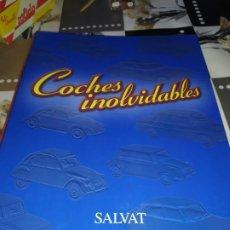 Coches a escala: FICHAS DE LA COLECCIÓN SALVAT COCHES INOLVIDABLES LA PASIÓN DE VIVIR 1950-1960. Lote 177807997