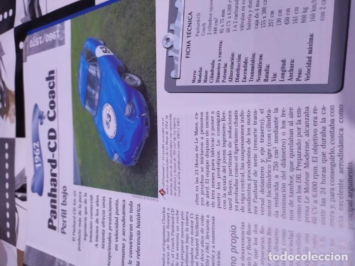Coches a escala: Fichas de la colección Salvat coches inolvidables la pasión de vivir 1950-1960 - Foto 8 - 177807997