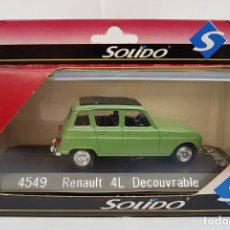 Coches a escala: RENAULT 4L DECOUVRABLE SOLIDO REF. 4549 DIE CAST 1/43 (MADE IN FRANCE). Lote 182099726