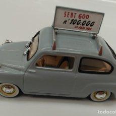 Coches a escala: SEAT 600 NUMERO 100000 - SOLIDO ESCALA 1/43 - PERFECTO ESTADO!!. Lote 182677521
