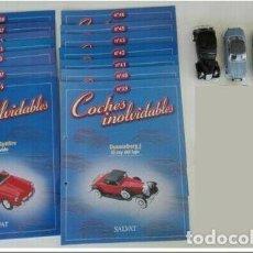 Coches a escala: LOTE COCHES INOLVIDABLES 14 FASCÍCULOS Y 4 COCHES. Lote 150957810