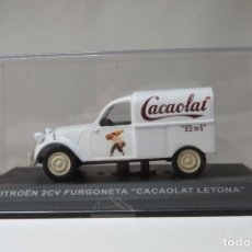 Coches a escala: CITROEN 2CV FURGONETA CACAOLAT LETONA. Lote 197136066