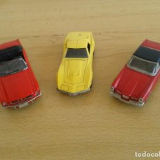 Coches a escala: COCHES ESCALA 1:43 SOLIDO FORD MUSTANG CHEVROLET CORVETTE FACEL VEGA. Lote 200198397