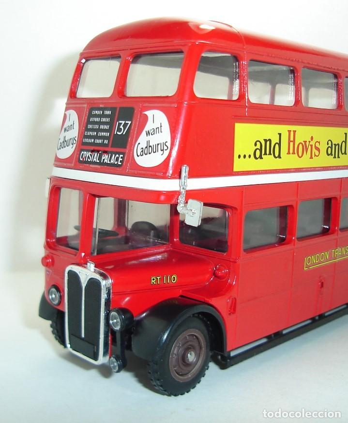 BUS AUTOBUS DOBLE PISO LONDON TRANSPORT SOLIDO ESCALA 1/50 (Juguetes - Coches a Escala 1:43 Solido)