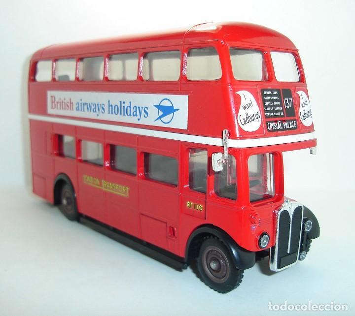 Coches a escala: BUS AUTOBUS DOBLE PISO LONDON TRANSPORT SOLIDO ESCALA 1/50 - Foto 3 - 202775426