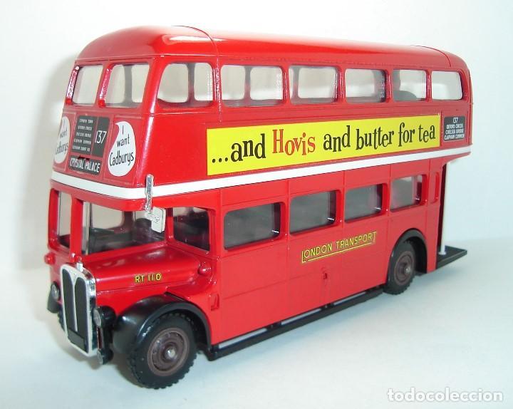 Coches a escala: BUS AUTOBUS DOBLE PISO LONDON TRANSPORT SOLIDO ESCALA 1/50 - Foto 4 - 202775426