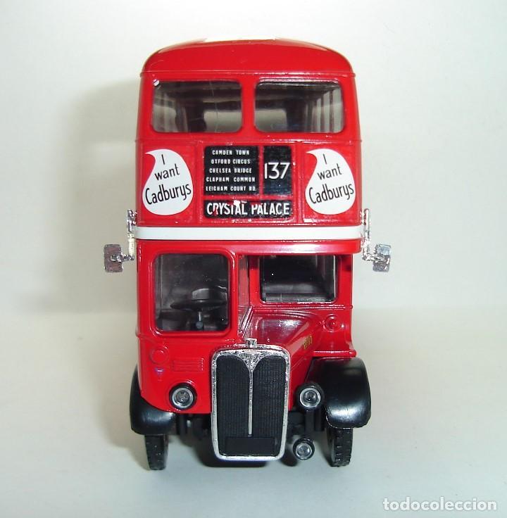 Coches a escala: BUS AUTOBUS DOBLE PISO LONDON TRANSPORT SOLIDO ESCALA 1/50 - Foto 7 - 202775426