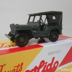 Coches a escala: 56 COCHE JEEP WILLYS SOLIDO SALVAT CAR 1:43 MINIATURE MADE IN FRANCE US ARMY. Lote 214727883