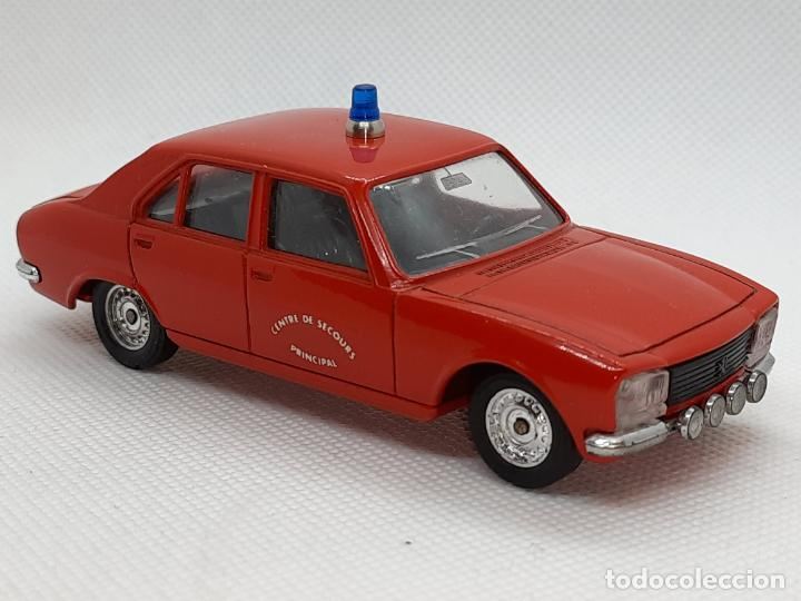 PEUGEOT 504 BOMBEROS - SOLIDO - MADE IN FRANCE - ESC. 1/43 - (Juguetes - Coches a Escala 1:43 Solido)