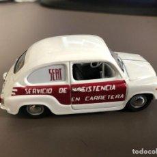 """Coches a escala: VENDO SEAT 600 E """"SERVICIO ASISTENCIA"""" - 1970 DE SOLIDO - .1/43-. Lote 218663368"""