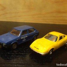 Coches a escala: LOTE SOLIDO FIAT RITMO OPEL GT. Lote 221704997