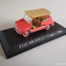 Coches a escala: FIAT 600 JOLLY. CAPRI 1966. TAXIS DEL MUNDO. ALTAYA 1:43. Lote 226235310